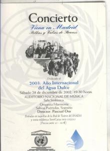 Postal 5824 : Publicitaria concierto viena en Madrid, 2003