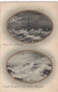 TUCK No. 1376, 2-Views, Rough Sea, Rough Sea Off The North Parade, BLACKPOOL ...