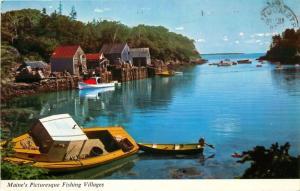 Maine, ME, Maine's Picturesque Fishing Villages, Chrome Vintage Postcard c6063