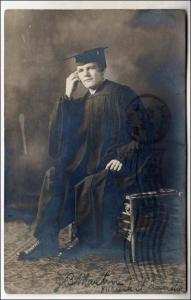 RPPC, Man in a Graduation Robe