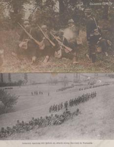 Infantry Opening Out Before An Attack Guerre 1914 2x French Military Postcard