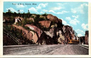 Minnesota Duluth Trolley At Point Of Rock 1922