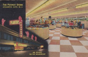 New Jersey Atlantic City Peanut Store On The Boardwalk 1947 Curteich sk170