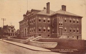 Sherianville Pennsylvania American Ave Public School Antique Postcard K26947