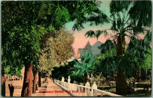 RED BLUFF California Postcard Residence Street HAND-COLORED Rieder c1910s