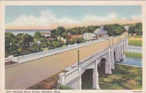 Michigan Petoskey Mitchell Street Bridge 1948 Curteich