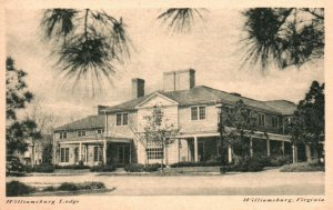 Williamsburg, Virginia, VA, Williamsburg Lodge, Vintage Postcard g8129