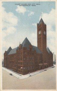 MINNEAPOLIS, Minnesota, PU-1917; Court House and City Hall