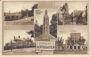 Greetings from Northampton, England, Great Britain, Early Postcard, Unused