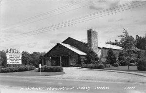 G39/ Houghton Lake Michigan RPPC Postcard 1948 The Pines Theatre