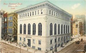 C-1910 Pittsburg Pennsylvania 1st National Bank autos Bossleman postcard