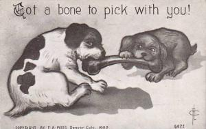 Fred Cavally Dog Series Got a bone to pick with you 1910