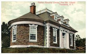 New York   Pine Hill  Morion Memorial  Library