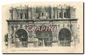 CARTE Postal Dijon Old church Saint Michel Portal