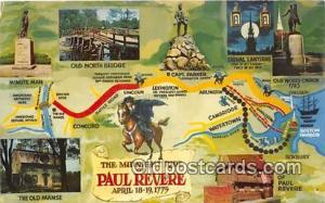 Midnight Ride Paul Revere, April 18-19, 1775 Patriotic Postcard Post Card Pau...