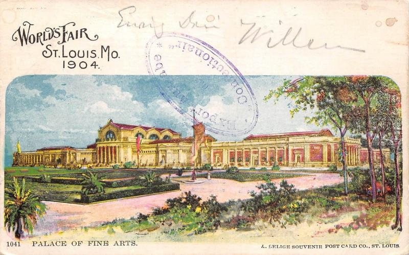 USA World's Fair St. Louis Mo. 1904 Palace of Fine Arts
