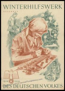 3rd Reich Germany 1938 Winterhilfswerk WHW Winter Charities Donation Plaka 77102