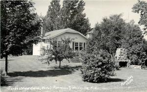 Vintage RPPC Postcard Garden View Cabin Hotel Paramount Wolfville Nova Scotia
