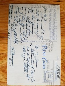 1942 Free Franked Military Post Card