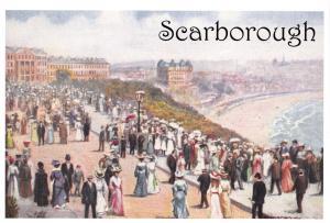 Vintage Reproduction Scarborough, Church Parade Art Postcard North Yorkshire K56