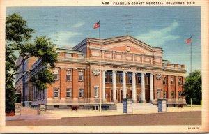 Ohio Columbus Franklin County Memorial 1937 Curteich
