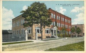 Batavia New York~K B Mathes Shell Factory~Dirt Road~1920s Postcard