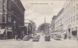 Maine Auburn Court Street 1944