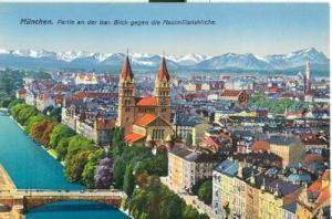 Germany, Munich, München, Partie an der Isar. Blick gegen...