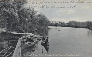 PROVIDENCE , Rhode Island , PU-1911; Pawtuxet River from Rhodes Boat House