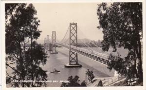San Francisco - Oakland Bay Bridge Real Photo