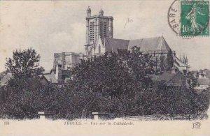 France Troyes Vue sur la Cathedrale 1911