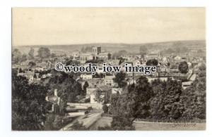 tq2578 - Dorset - Early Birds Eye View across the Town of  Sherborne - Postcard