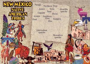 USA New Mexico Native American Tribes Navajo Northern Tiwa Pecos Tompiro