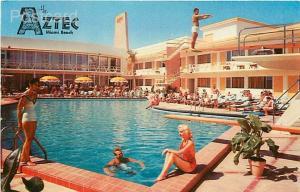 FL, Miami Beach, Florida, The Aztec Motel, Pool, Natural Color
