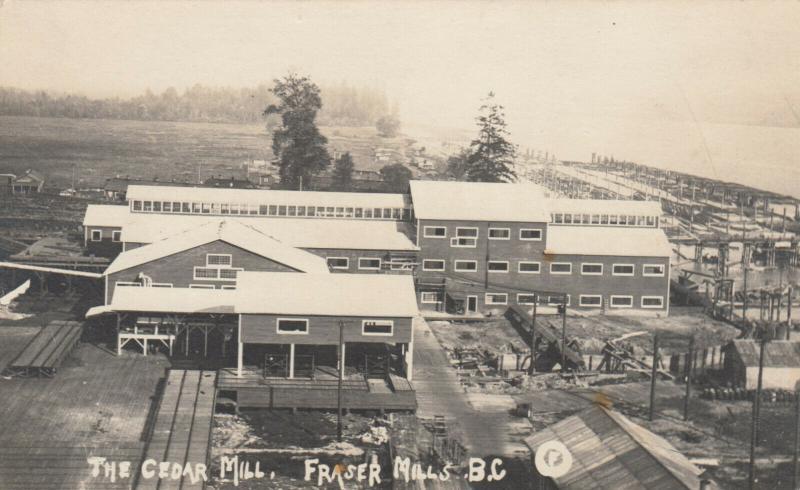 RP: FRASER MILLS , B.C. , Canada , 1900-10s ; The Cedar Mill