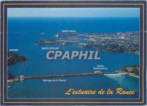 Modern Postcard The Emerald Coast The Rance estuary between Saint Malo and Di...