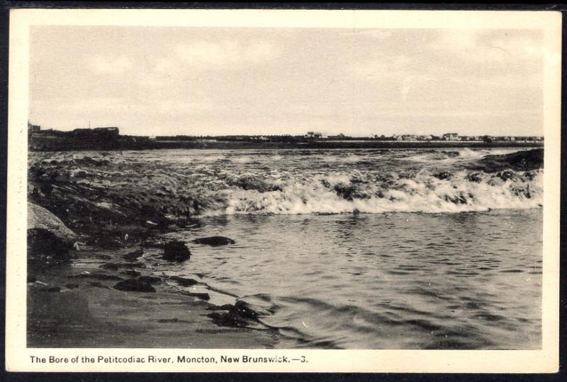 The Bore of the Petitcodiac River,Moncton,New Brunswick,Canada