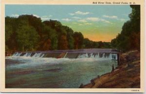 Red River Dam - Grand Forks ND, North Dakota