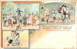 Barnum and Bailey Circus German Issued Multi-View #12 CLOWNS Postcard