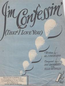 I'm Confessin' Al Neiburg 1930s Sheet Music
