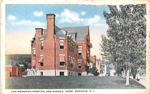 Fox Memorial Hospital & Nurses' Home Oneonta, New York