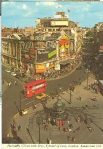 United Kingdom, London, Piccadilly Circus 1977 used Postcard