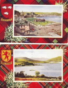 P1745 2 1949 scotland rothesay and bay colorful postcards