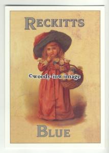 ad0400 - Reckitts Blue Laundry Whitener- girl & Flowers - Modern Advert Postcard