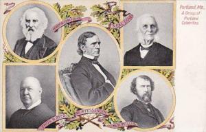 Maine Portland Group Of Portland Celebrities Longfellow & More