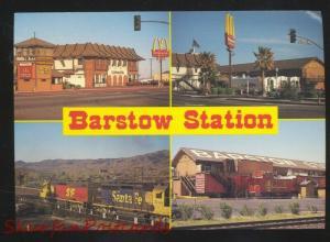 BARSTOW STATION CALIFORNIA ROUTE 66 MCDONALDS RESTAURANT POSTCARD