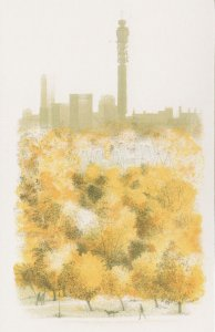 Primrose Hill London Zoo Telecom Tower in 1981 Lithograph Postcard