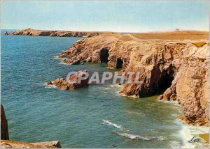 Postcard Old Peninsula of Quiberon Rocks and Caves of the Cote Sauvage