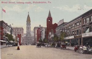 PHILADELPHIA , Pennsylvania, 1900-10s , Broad Street [FORD sign]