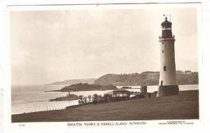 RP, Smeaton Tower & Drake's Island, Plymouth, Devon, England, UK, 1920-1940s